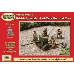 British Anti-Tank Gun And Crew 1:72