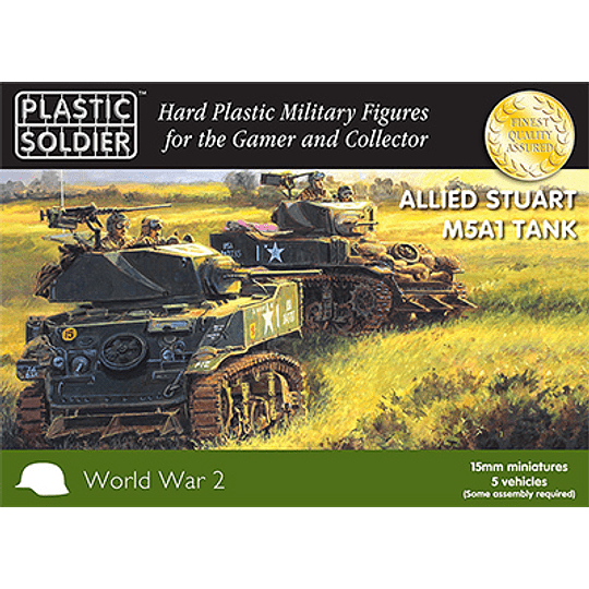 Allied Stuart M5A1 Tank 15mm
