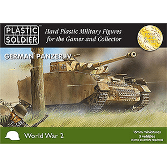 German Panzer IV Tank 15mm
