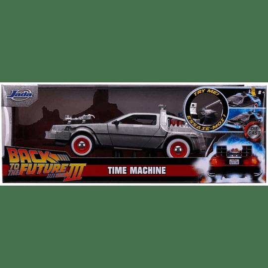Delorean Time Machine BTTF3 Volver al Futuro Die-Cast 1:24