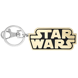 Llavero Logo Star Wars Dorado