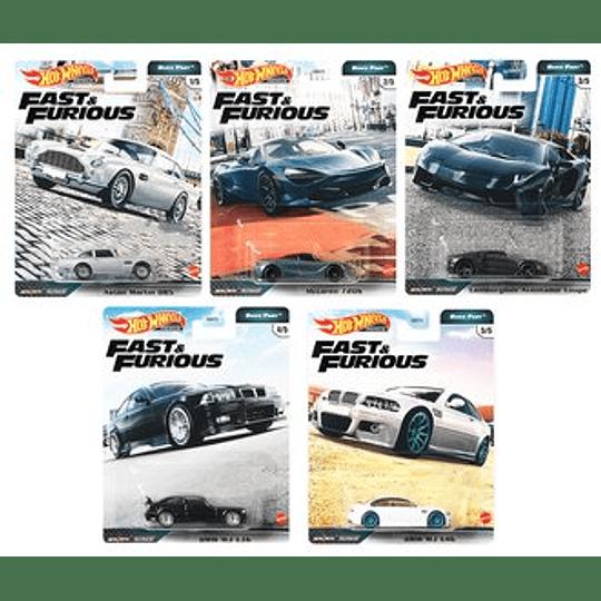 Set Completo Hot Wheels Fast & Furious W5 2020 (956K)