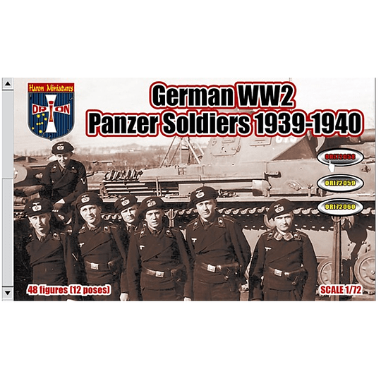 WWII German Panzer Soldiers 1939-1940 #72058 1:72