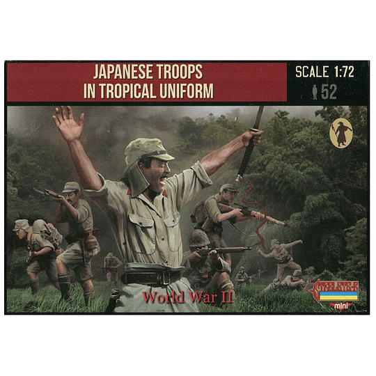 World War II Japanese Troops In Tropical Uniform M114 1:72