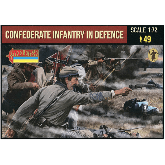 Confederate Infantry in Defence 249 1:72