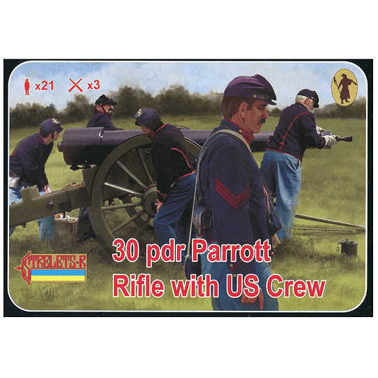 30 pdr Parrott Rifle with US Crew 182 1:72