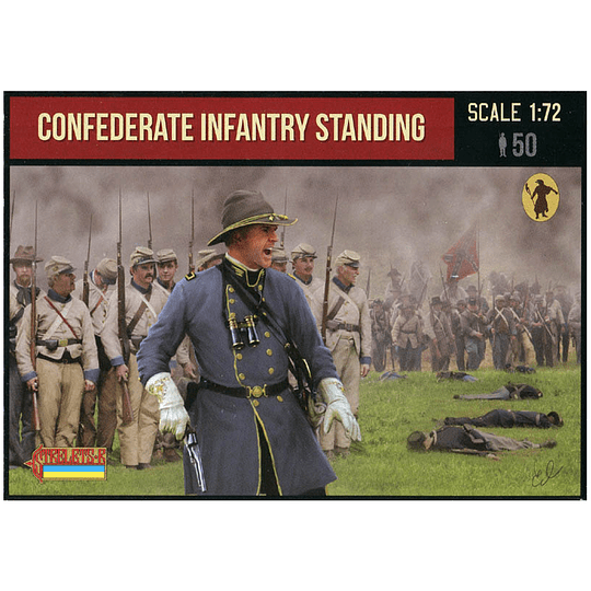 Confederate Infantry Standing 156 1:72