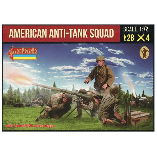 American Anti-tank Squad with 75mm M-20 Gun 247 1:72