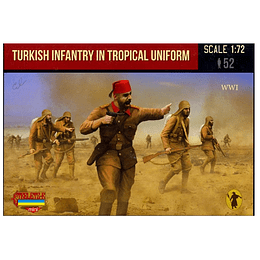 WWI Turkish Infantry in Tropical Uniform M122 1:72