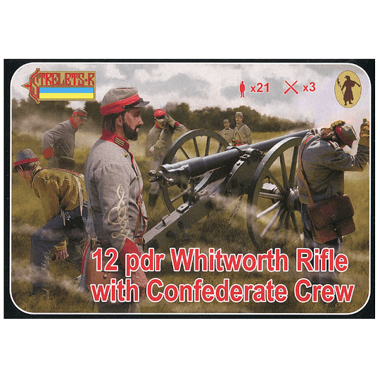 12 pdr Whitworth Rifle with Confederate Crew 183 1:72