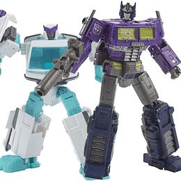 Optimus Prime & Ratchet Shattered Glass 2-Pack Generations Selects WFC Transformers