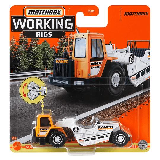 Road Scraper Working Rigs Matchbox 1:64