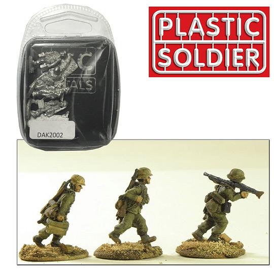 Figuras de Metal Deutsche Afrika Korps LMG section with Helmets