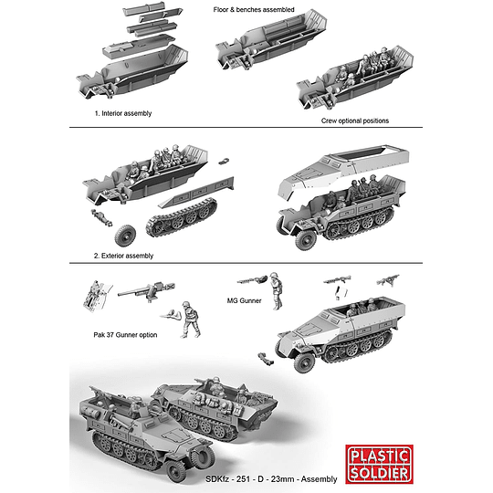 Semiorugas alemanes Sdkfz 251 Ausf D
