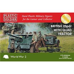 Cañón británico 25 pdr y tractor Morris