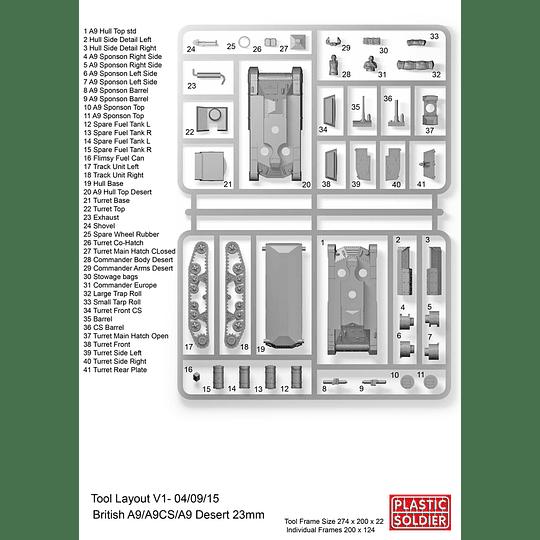 Tanques de crucero británicos A9 [en bolsa]