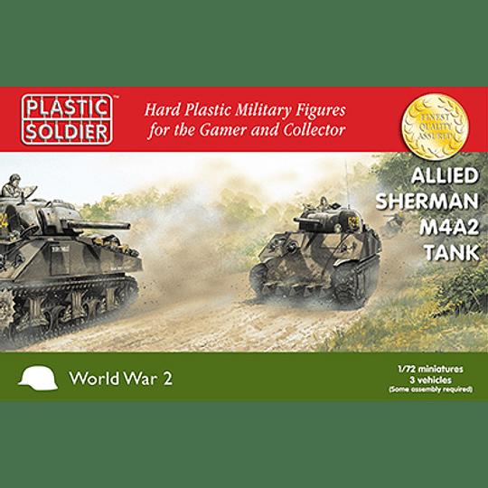 Tanques Sherman M4A2 aliados