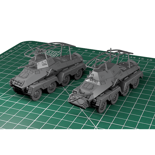 Vehículos blindados alemanes SdKfz 231 8-Rad