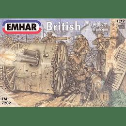 British WWI Artillery with 18 pdr gun Set 7202 1:72