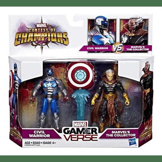 Civil Warrior Vs. The Collector Marvel Gamerverse 3,75''