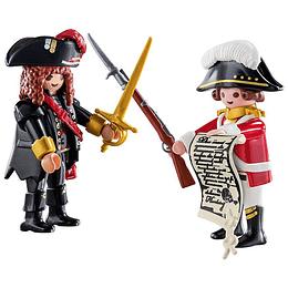 DuoPack Pirata y Casaca Roja Set 70273