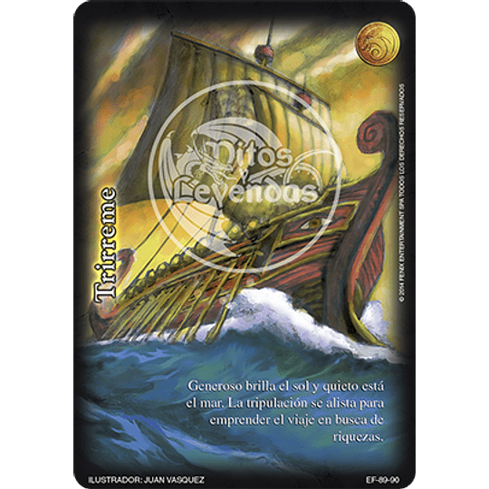 Pack Oro Trirreme 12 Cartas Mitos y Leyendas
