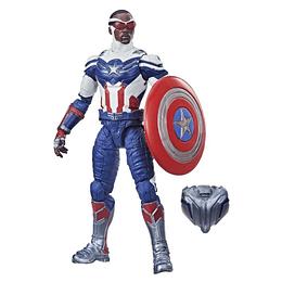 "Sam Wilson Captain America (Captain America Flight Gear BAF) Marvel Legends 6"""
