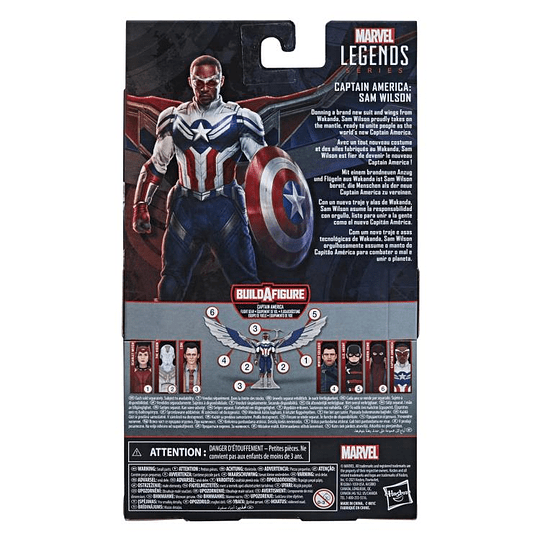 Sam Wilson Captain America (Captain America Flight Gear BAF) Marvel Legends 6