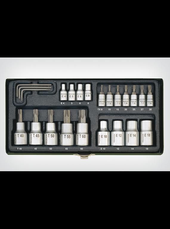 PROXXON Torx socket set 23 pieces