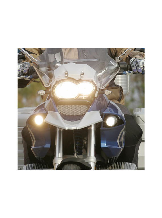 Fog beam auxiliary fog light with light panels | right side