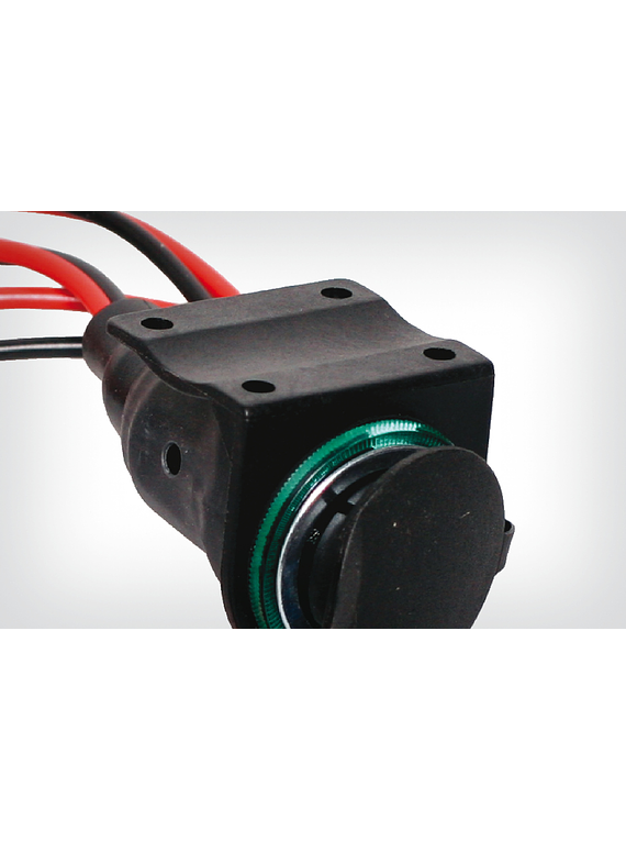 Socket bracket for motorcycle electrical socket