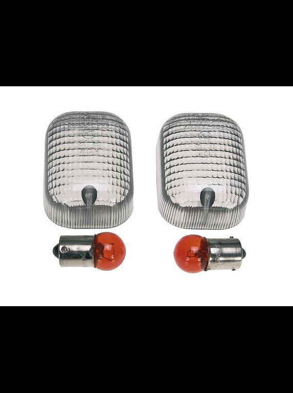 Clear-flash indicator lenses