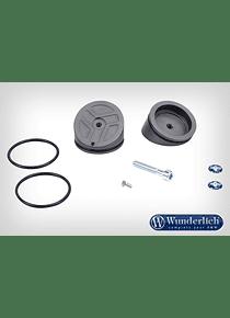 Upper shock absorber connection cap