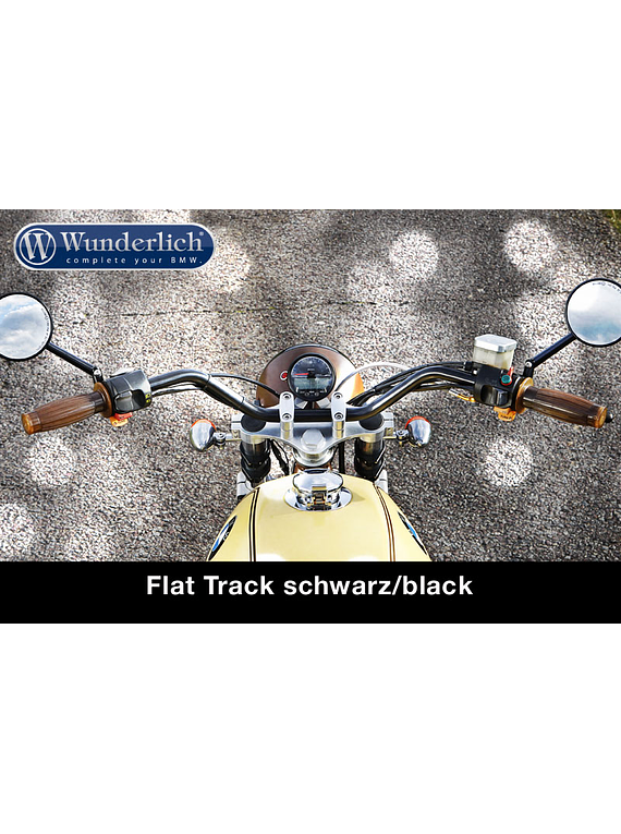 Handlebar Flat Track chrome