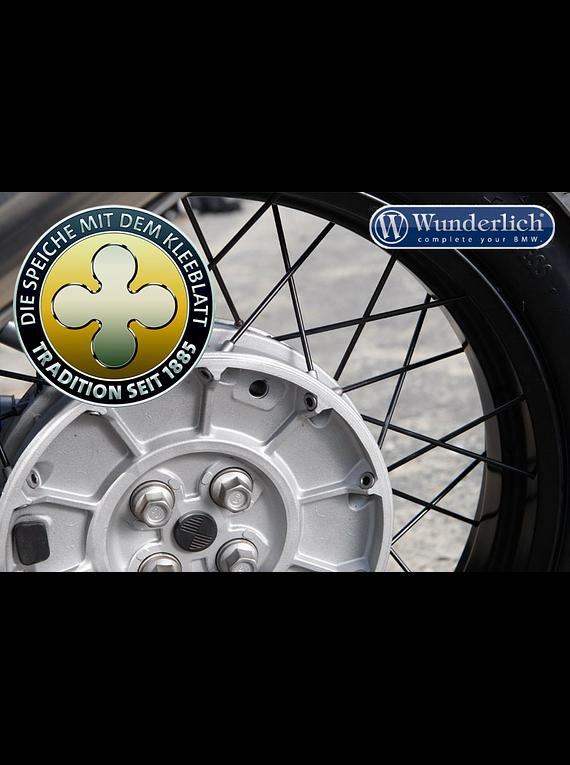 Spoke Kleeblatt black chrome cross-spoke front wheel