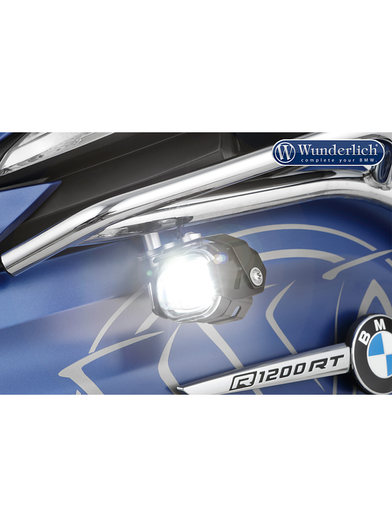 Wunderlich LED additional headlight Micro Flooter for tank bars
