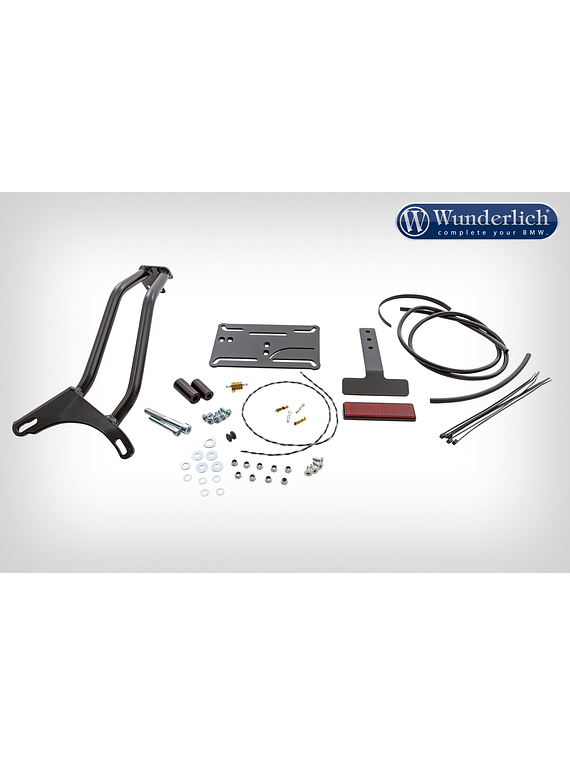 Wunderlich SWING tail section licence plate holder for shaft drive
