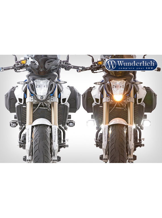 Wunderlich LED additional headlight MICROFLOOTER for vehicle install
