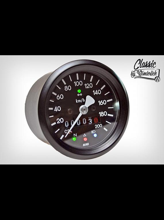 Mechanical speedometer 60mm including indicator light