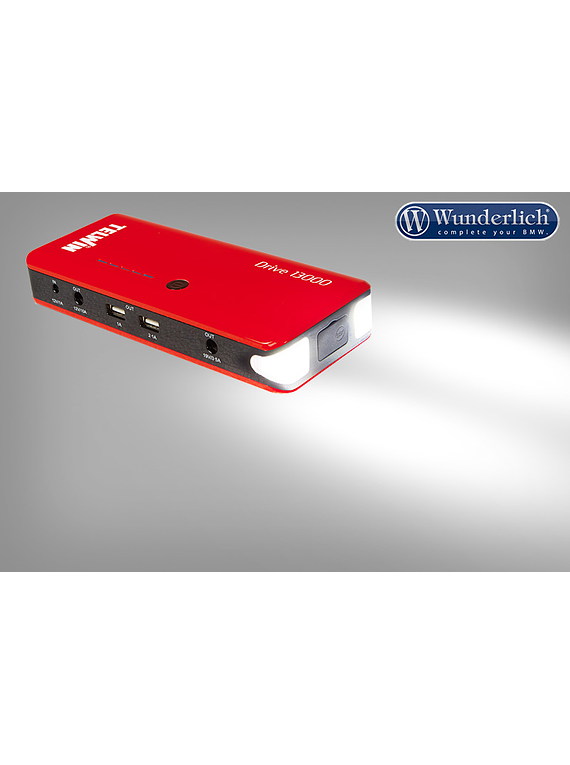 Portable 12 V emergency starter & USB Power Bank Drive 13000