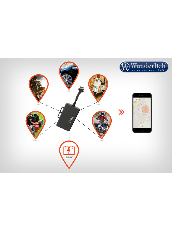 GPS Finder MOTORCYCLE motorbike tracking device and GPS tracker