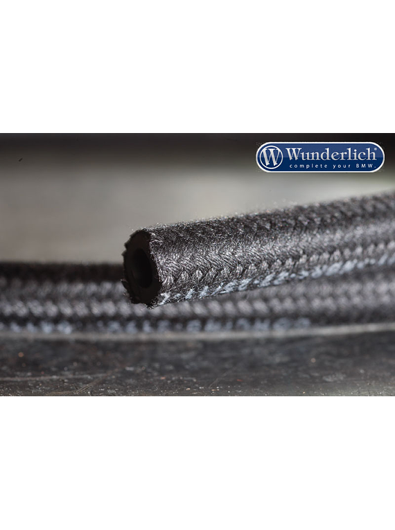 Gasoline hose textile sheathed