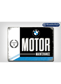 Metal sign BMW Motor Maintanance 40 x 30 cm - Nostalgic Art