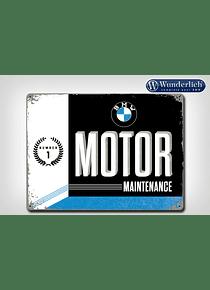 Metal sign BMW Motor Maintanance 40 x 30 cm - Nostalgic Art
