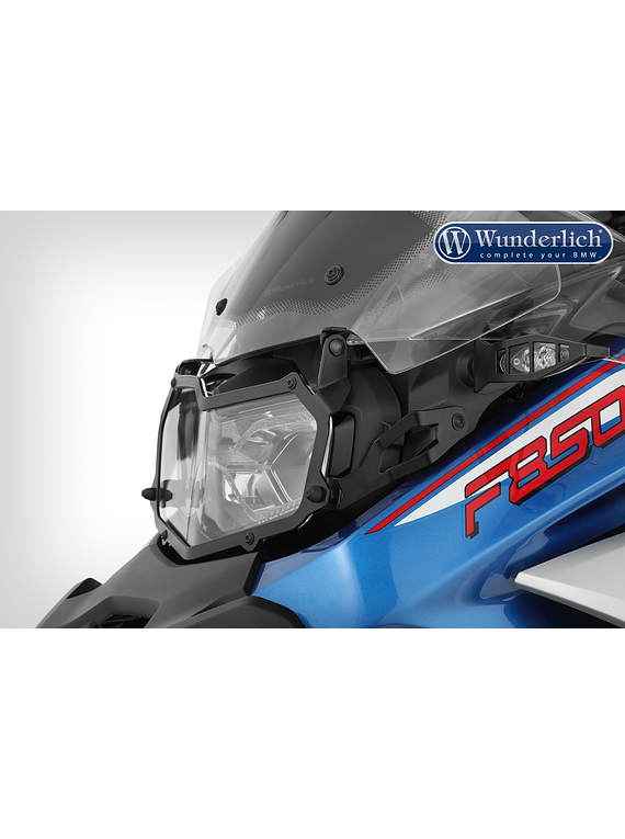 Wunderlich headlight protection grille, foldable, CLEAR for F 850 GS