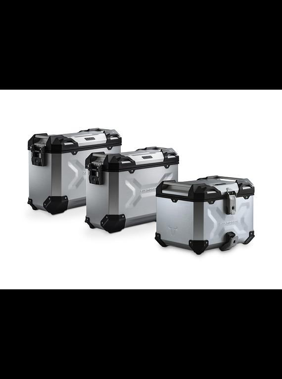 Adventure set Luggage Silver. Yamaha MT-09 Tracer (14-18).