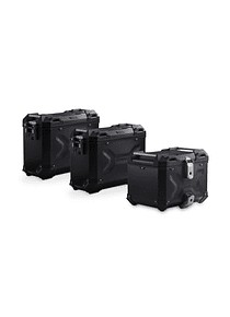 Adventure set Luggage Black. BMW F 750/850 GS. Plastic rack.