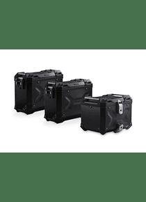 Adventure set Luggage Black. Moto Guzzi V85 TT (19-).