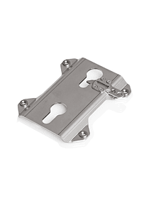 TRAX accessory mount For TRAX side cases. Silver.