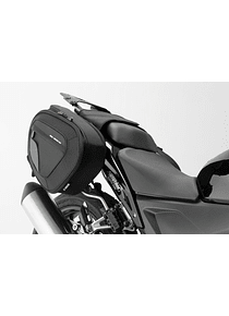 BLAZE saddlebag set Black/Grey. Honda CBR500R,600RR,650F/CB500F,650F.